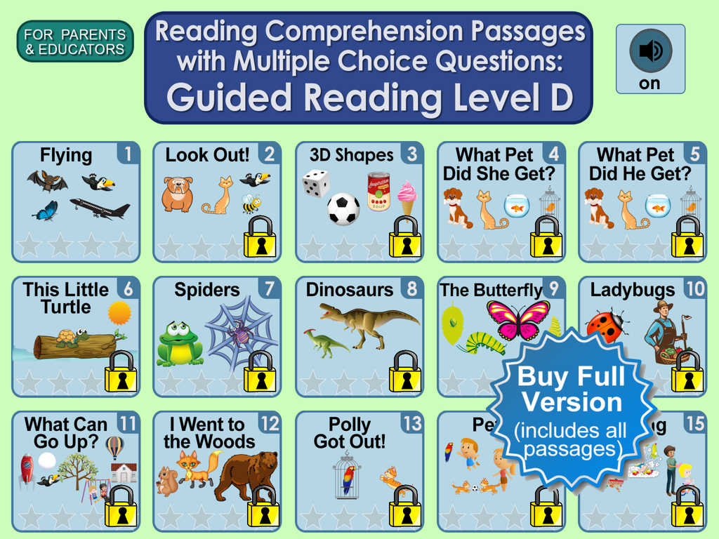 App Shopper Reading Comprehension Passages With Multiple