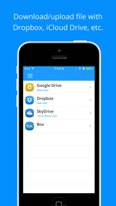 Briefcase Pro - File manager, cloud drive, document & pdf reader and file sharing App iPhone