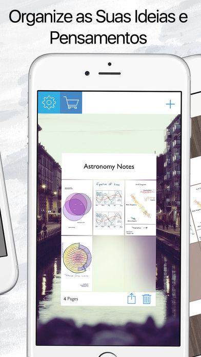 Screenshot do app Caderno de Desenho : Blocos de Notas e Cadernos