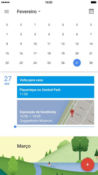 Screenshot do app Google Agenda: Aproveite ao máximo cada dia