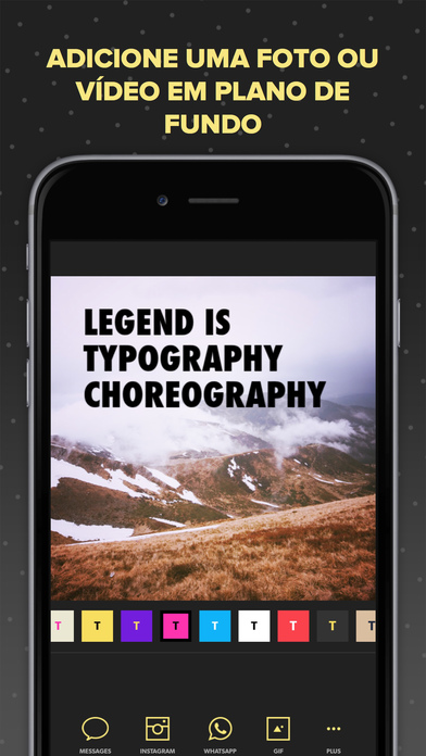 Screenshot do app Legend - Animate Text in Video & GIF