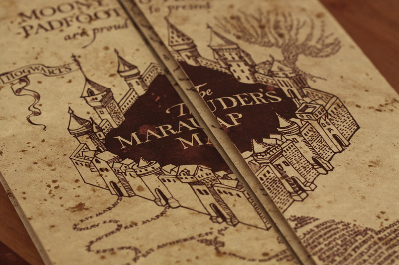 Laptop Potter Marauders Map Harry Wallpaper