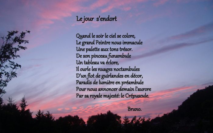 Petit Poème Pour Un Soir Marie Des Vignes