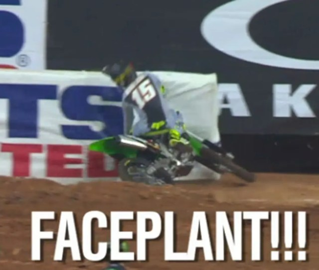 Nascar Driver Clint Bowyer Hits The Wall On A Motorcycle