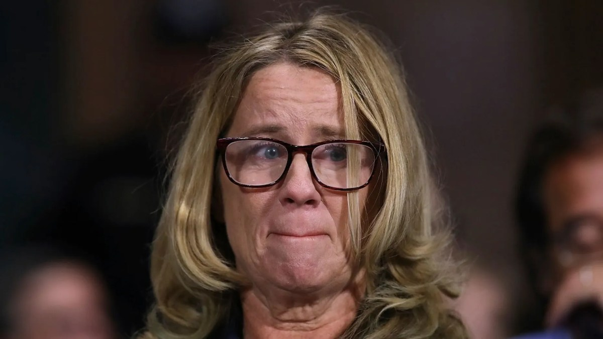 Christine Blasey Ford testifies before the Senate Judiciary Committee, in Washington, Sept. 27, 2018.