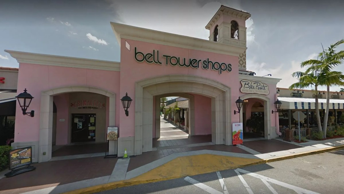 Outside the Bell Tower Shops in Fort Myers, Fla.