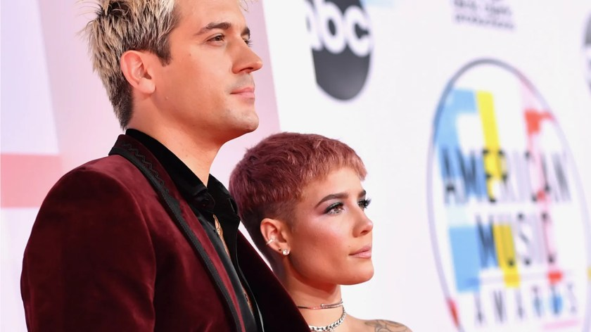 G-Eazy, left and Halsey attend the 2018 American Music Awards at Microsoft Theater on October 9, 2018 in Los Angeles, Calif. (Getty)