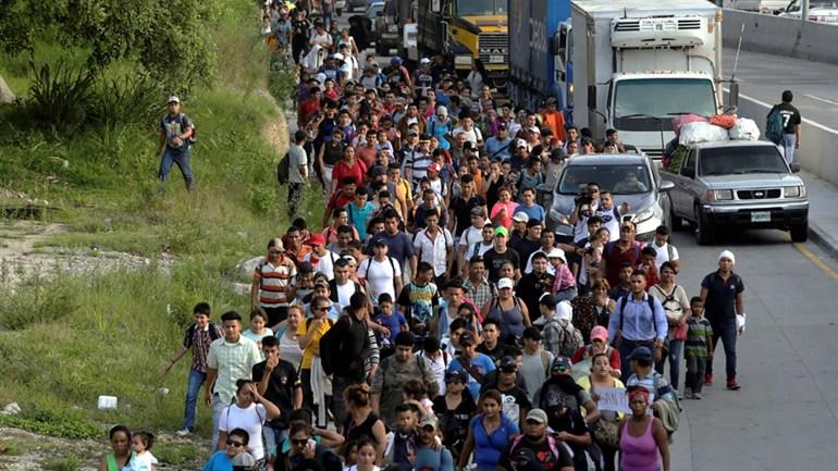 Les Honduriens, fuyant la pauvreté et la violence, sont vus ici à San Pedro Sula. Ils se dirigent vers les États-Unis
