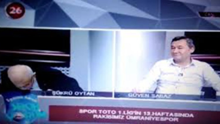 Sukru Oytan suffered a heart attack on air.