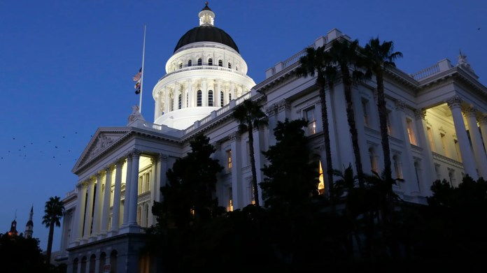 The site outside the California Capitol in Sacramento on August 31, 2018, is expected to be the location of Sunday