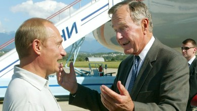 "Former President George W. Bush revealed in an interview released Sunday that he asked his late father for permission to bring Russian President Vladimir Putin to visit the family's famed compound in Kennebunkport, Maine.<br data-cke-eol=""1"">"