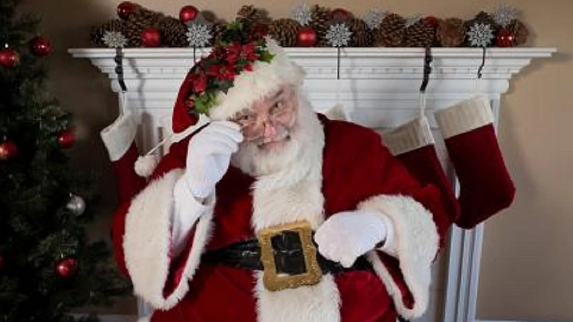 FILE: Santa visits a home. A substitute teacher in New Jersey will not be returning to the Montville Township Public Schools, the superintendent said Tuesday.