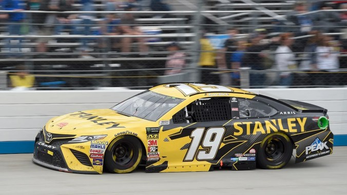 File-This May 6, 2018, the photo of the record shows Daniel Suarez competing during the NASCAR Cup Series car race at Dover International Speedway in Dover, Delaware. (Associated Press)