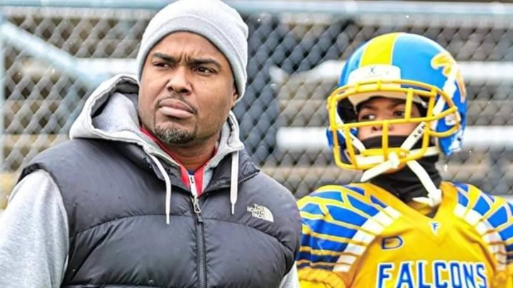 Brian Marshall, who played college football himself at Northwestern, said his son Isaiah was offered a scholarship to play with the Wolverines after Head Coach Jim Harbaugh saw him play.