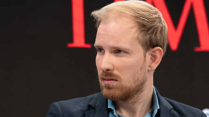 Rutger Bregman, Author and Historian, during the Session