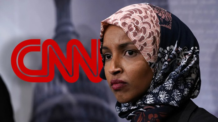CNN's coverage of Rep. Ilhan Omar has been criticized by the network's biggest names for President Trump.