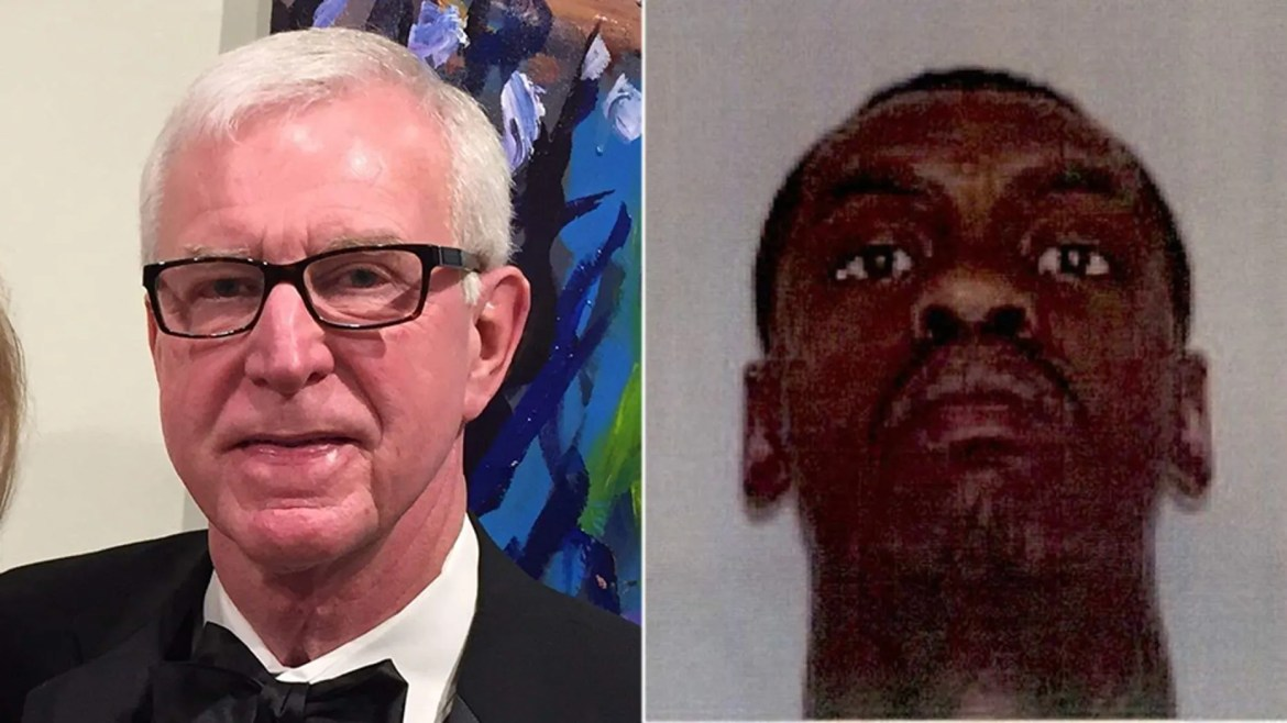 Jack Hough's human man and businessman, 73, (l.) Was killed for Thursday in Ghana, Ga .. Sunday Police DeMarvin Bennett, 24, (r.) For murder was arrested.