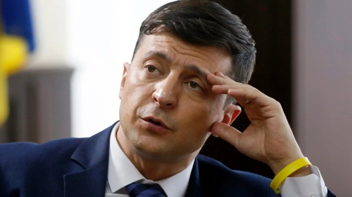 Ukrainian comedian Volodymyr Zelenskiy, who played the nation's president in a popular TV series, and is running for president in next month's election