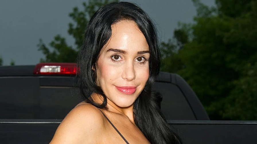 Nadya 'Octomom' Suleman attends the Celebrity Pillow Fight press conference