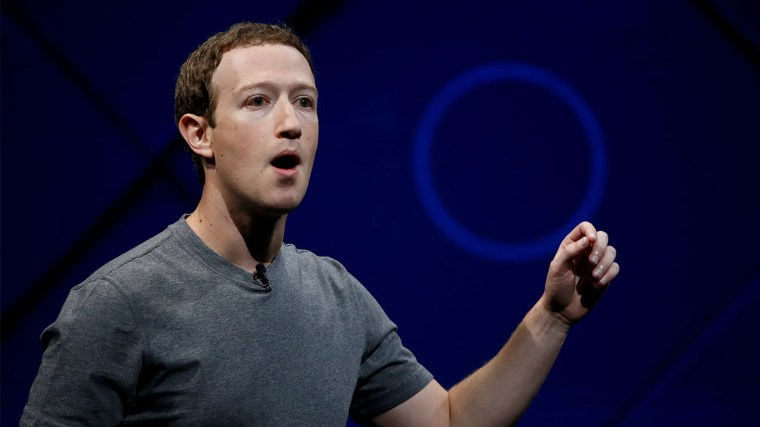 FILE PHOTO: Facebook Founder and CEO Mark Zuckerberg speaks on stage during the annual Facebook F8 developers conference in San Jose, California, U.S., April 18, 2017. REUTERS/Stephen Lam