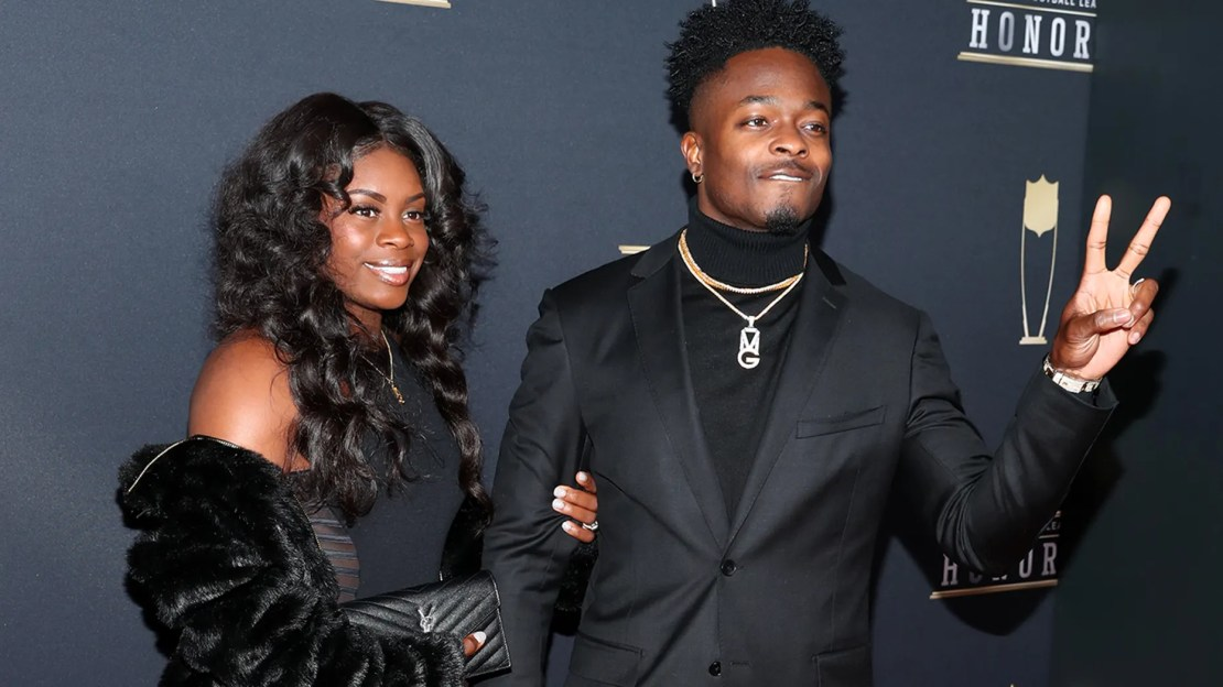 Morgan Goodwin and Marquise Goodwin attends the NFL Honors at University of Minnesota on February 3, 2018 in Minneapolis, Minnesota.