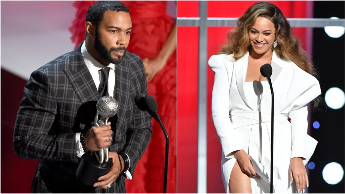 Omari Hardwick and Beyonce attend 50th NAACP Image Awards. (Photo: Chris Pizzello/Invision/AP and Earl Gibson III/Getty Images for NAACP)