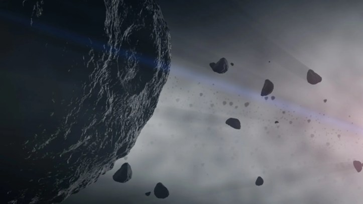 The asteroid Bennu may be a CM chondrite, a type of primitive meteorite that contains cyanide. Cyanide-laced meteorites like these may have seeded early Earth with chemical building blocks of life.