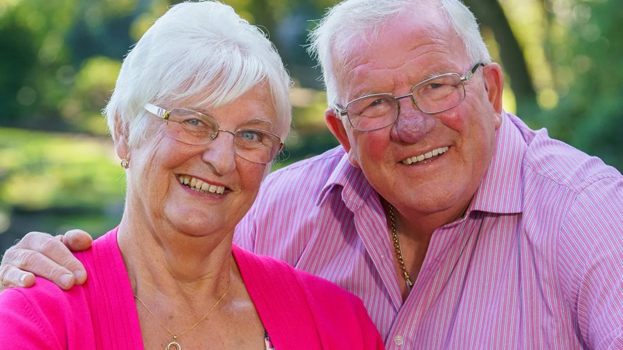 A husband and wife, who have been dubbed Britain's happiest couple, say they've only had one major argument in their 50 years of marriage. (Photo: SWNS)