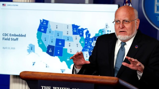 Dr. Robert Redfield, director of the Centers for Disease Control and Prevention. (AP Photo/Alex Brandon)