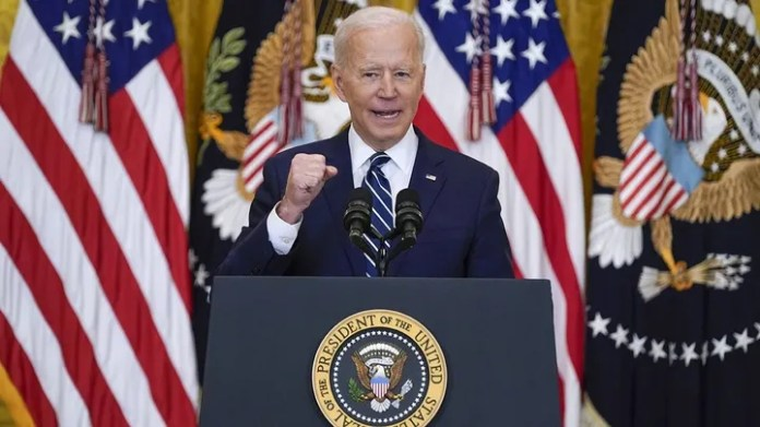 Biden uses 'cheat sheet' at first news conference