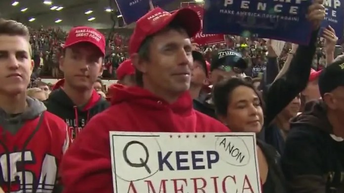 Trump praised supporters of QAnon conspiracy theory