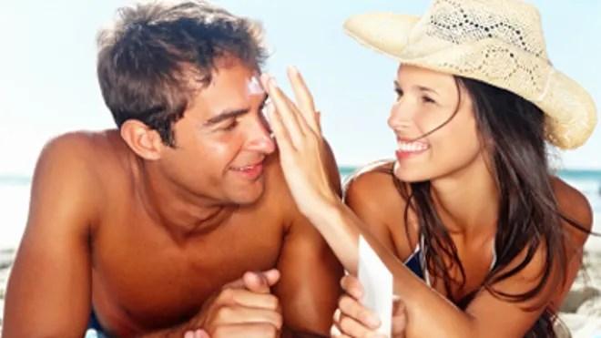 sunscreen couple