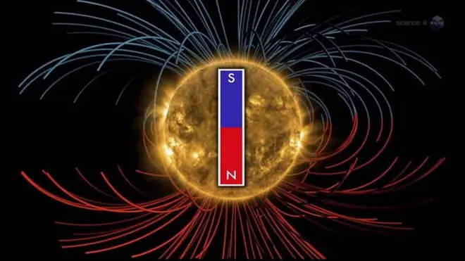 The sun's magnetic field is gearing up to shift, a once in 11 year event, according to NASA officials. (NASA)