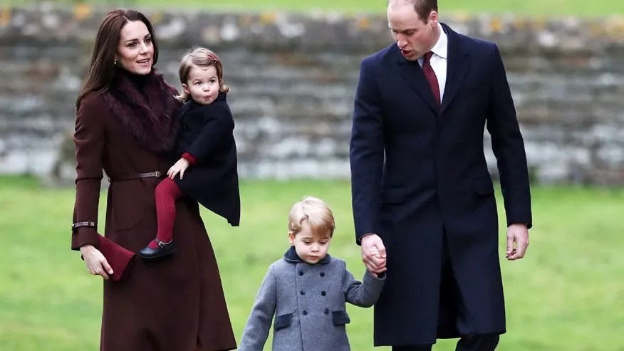 Image result for Prince William and his wife, Kate and children
