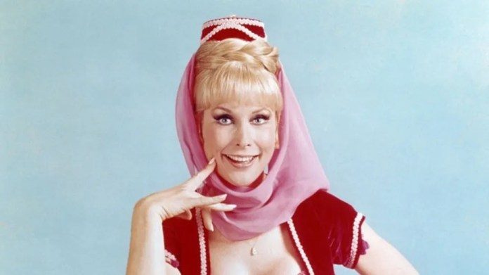 "Barbara Eden starred in ""I Dream of Jeannie."""