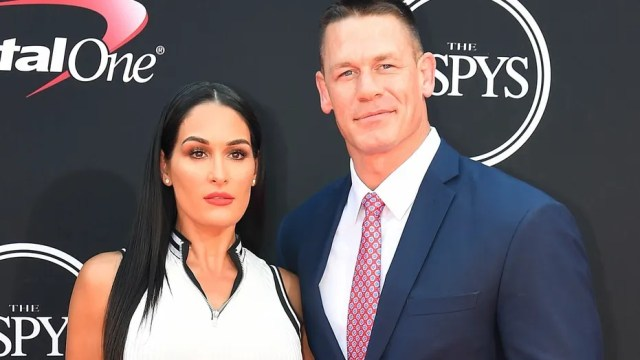 FILE 2017: WWE wrestler John Cena with Nikki Bella arrive for the 2017 ESPYS at Microsoft Theater in Los Angeles.