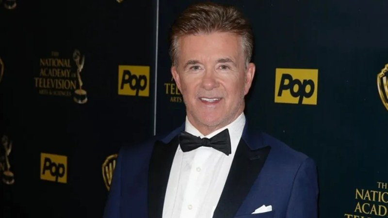 Actor Alan Thicke posed for photos on the carpet of the 42nd Annual Daytime Emmy Awards in April 2015.