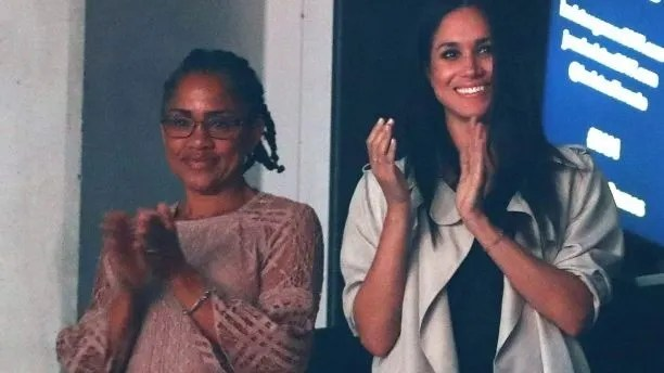 Meghan Markle with her mother