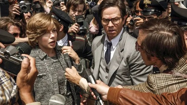 "FILE - This image released by Sony Pictures shows Michelle Williams, left, and Mark Wahlberg in TriStar Pictures' ""All The Money in the World."" After an outcry over a significant disparity in pay with Williams, Wahlberg has agreed to donate the $1.5 million he earned for reshoots on the movie to the anti-sexual misconduct initiative Time's Up, in Williams' name, announced Saturday, Jan. 13, 2018. (Fabio Lovino/Sony-TriStar Pictures via AP)"