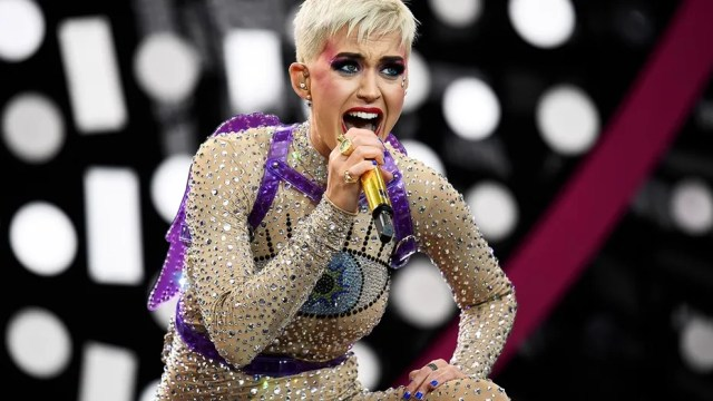"Katy Perry discusses how social media will be the ""decline of civilization"" in new interview. Here, the singer performs at the Glastonbury Festival in Britain, June 24, 2017."