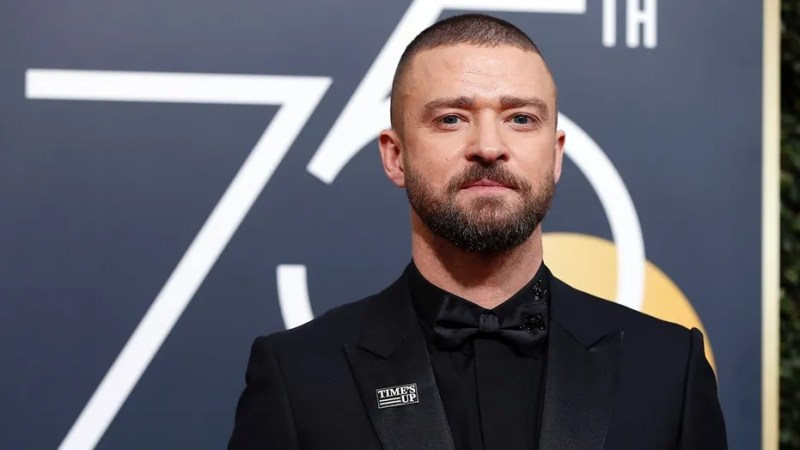 """Justin Timberlake wore a """"Time's Up"""" pin to the 2018 Golden Globes."""