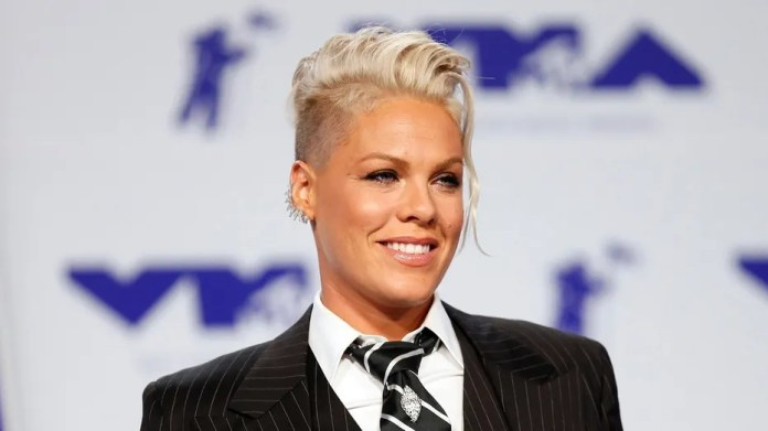 Pink at the 2017 MTV Video Music Awards.