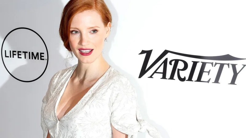 Actress Jessica Chastain arrives for Variety's Power of Women luncheon in New York City, U.S., April 21, 2017.