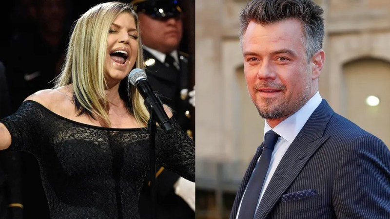 Josh Duhamel (right) defended his ex-wife Fergie's sultry performance of the national anthem.