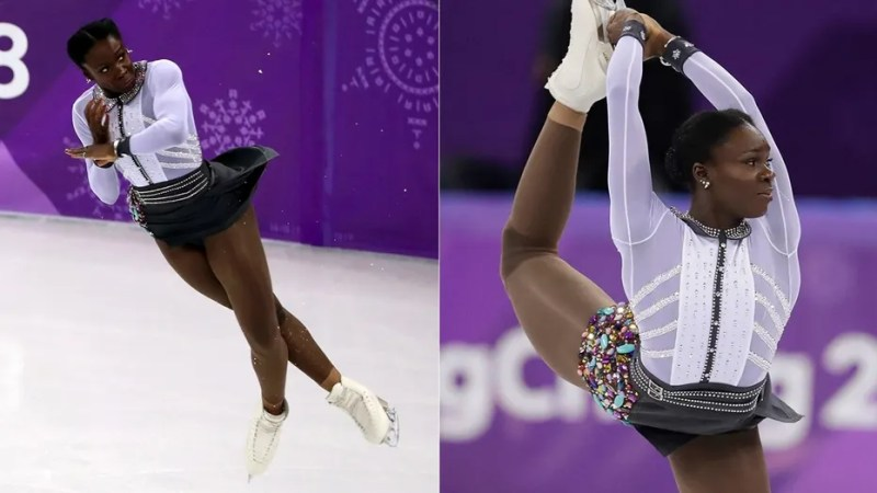 Mae-Berenice Meite changed up her costume in the middle of the women's free skate event at the Olympics.