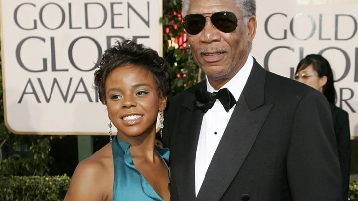 "E'Dena Hines' [left] boyfriend, who is accused of killing her, said in court that the woman and her step-grandfather, Morgan Freeman, had an ""inappropriate sexual relationship."""