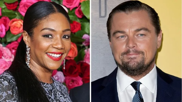 Tiffany Haddish told The Hollywood Reporter about a conversation she claimed to have had with Leonardo DiCaprio.