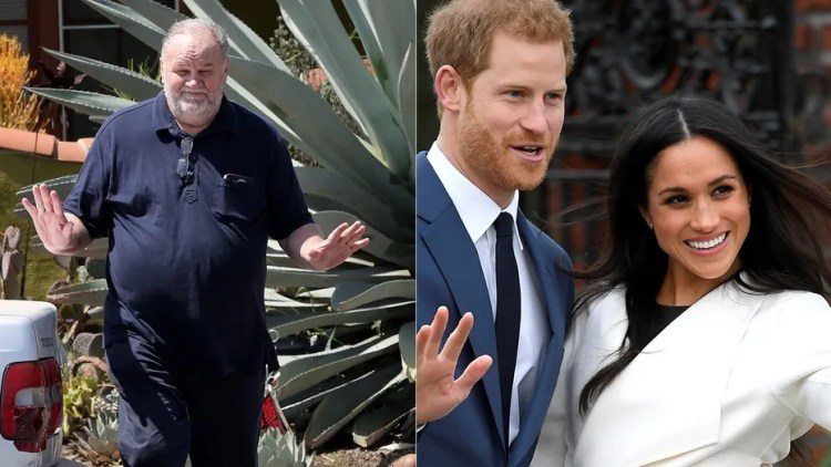 Thomas Markle claims he hung up on Prince Harry before he and Meghan's wedding.  (Reuters)