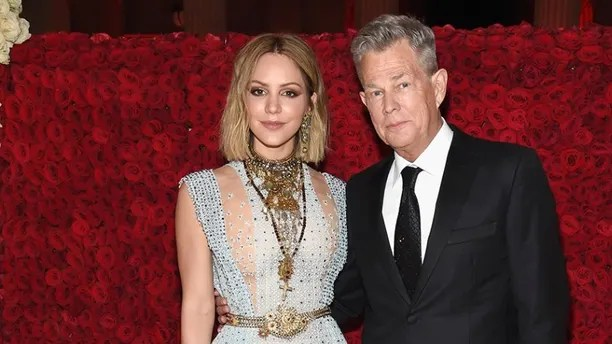 NEW YORK, NY - MAY 07:  Katharine McPhee and David Foster attend the Heavenly Bodies: Fashion & The Catholic Imagination Costume Institute Gala at The Metropolitan Museum of Art on May 7, 2018 in New York City.  (Photo by Kevin Mazur/MG18/Getty Images for The Met Museum/Vogue)