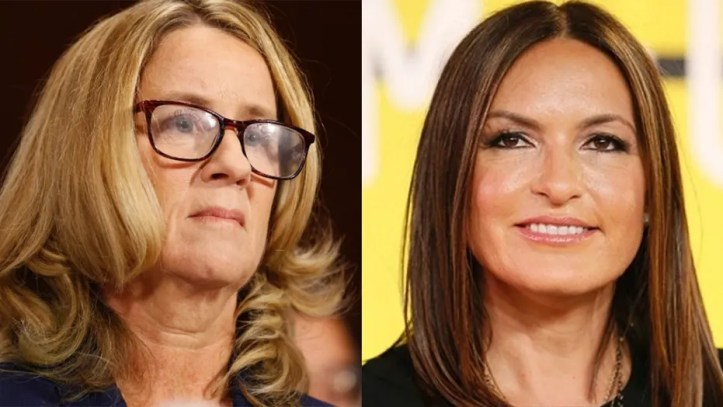 'SVU' star Mariska Hargitay talks about Christine Blasey Ford's courage during Kavanaugh hearing while at her foundation gala in New York City.